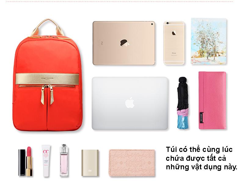 balo thời trang nữ, balo đựng macbook cho nữ, balo thanh lịch, balo cartinoe cao cấp