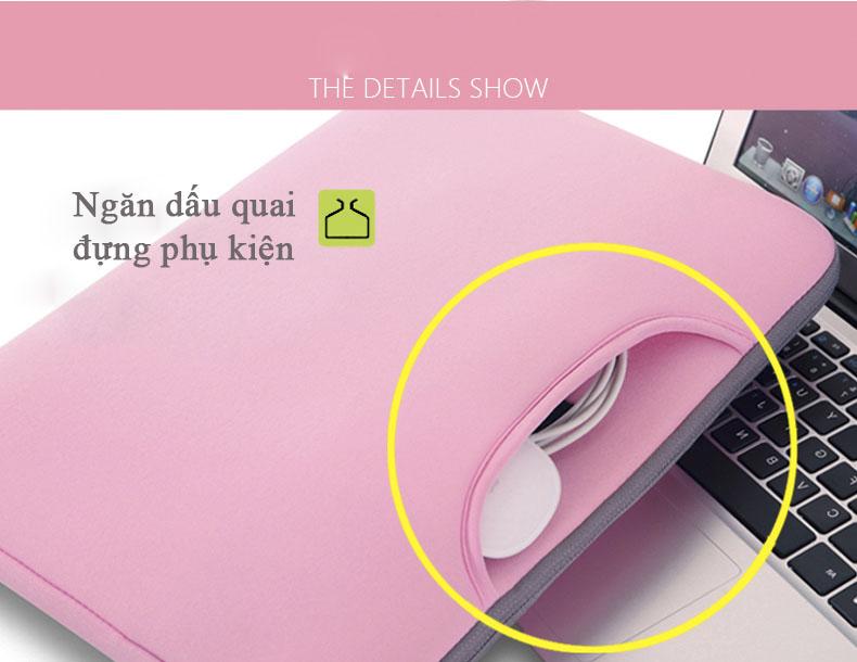 ngăn dấu quai túi đựng laptop breath simplicity